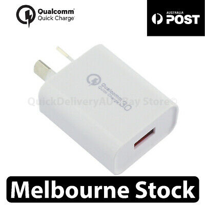 ⚡18W Qualcomm Quick Charge QC 3.0 Universal Super Fast USB Wall Charger AU Plug⚡