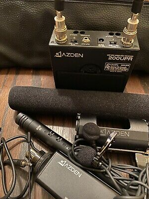 Azden 10BT UHF Wireless Bodypack Transmitter 51xt 200upr Sgm 2x Bundle