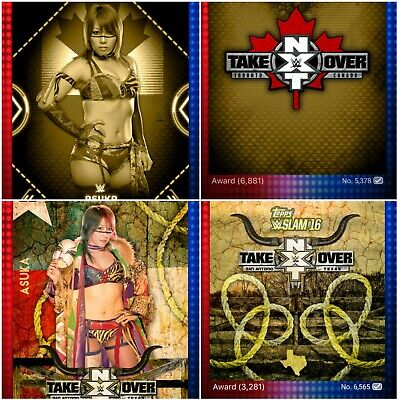 Topps WWE SLAM 2016 NXT TakeOver Asuka Awards