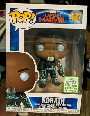Funko Pop! Captain Marvel Korath 2019 Eccc Spring Convention Exclusive New 437