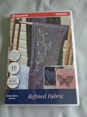 Husqvarna REFINED FABRICS 281 Machine Embroidery 16 Needle Felt Designs CD