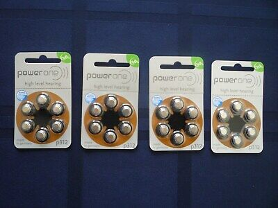 Power One High Level Hearing Aid Batteries~Size 312~Exp 5/2023