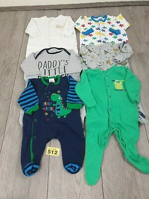 Baby Boys 0-3 Months Sleepsuits