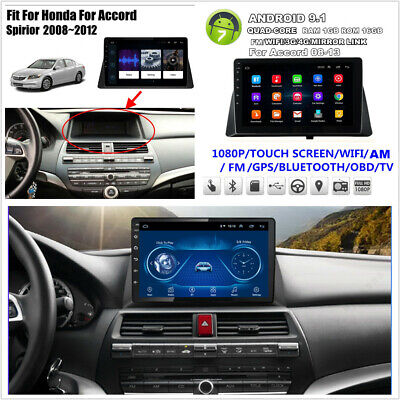 Android 9.1 Quad-core 10.1'' Stereo Radio GPS WiFi 4G DAB For Honda Accord 08-13