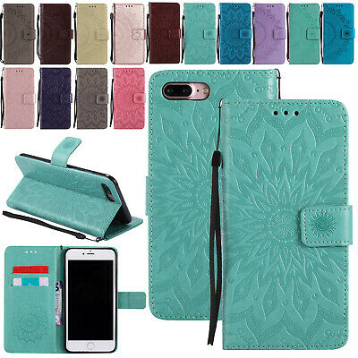 For iPhone 11 Pro Max XR 7 8+ 6 5s Cover Leather Flip Magnetic Wallet Stand Case