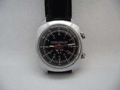 Jaeger LeCoultre Military Watch Alarm Marriage Swiss Vintage Waffen-SS ZZ GERMAN