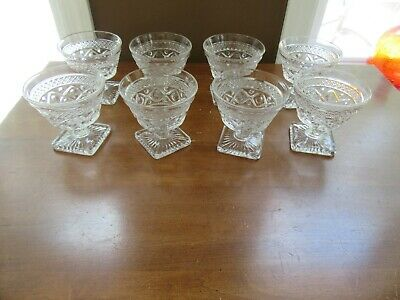 8 - Imperial Glass Cape Cod Clear Sherbets