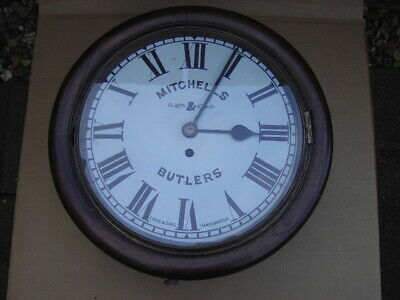 Antique Fusee Wall Clock -  M & B Brewery Birmingham -  Mitchells & Butlers.