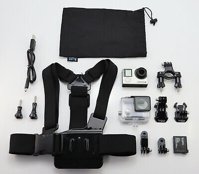 Gopro Hero 4 Silver Edition Camcorder 1080P Hd Action Video Cam & Chest Mount