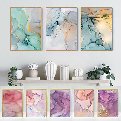 Nordic Style Marble Texture Canvas Poster Abstract Art Print Modern Wall Supply