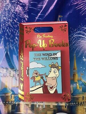 Disney Parks Pop-Up Books Wind In The Willows Mr. Toad Pin LE In Hand