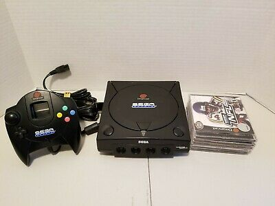 Sega Dreamcast Sports Edition Black Console, matching Controller 5 Games