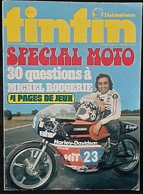 Tintin spècial moto1974.Michel Rougerie. Harley-Davidson covert a1