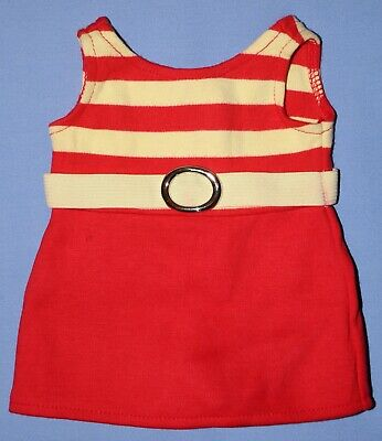 American Girl Doll KIT SWIMSUIT from 1934 Swimsuit Set Red & Yellow Skirted