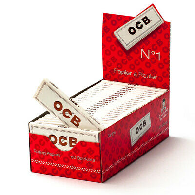 OCB CIGARETTE PAPERS NO.1 ORGANIC EXTRA THIN 50 Booklets