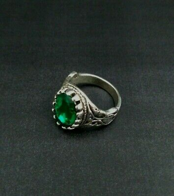 ANTIQUE HANDMADE OLD VINTAGE RARE ETHNIC Royal Silver Handcraft Quality RING