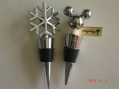 Two Silver Coloured Wine Bottle Stoppers (Pre-Owned)