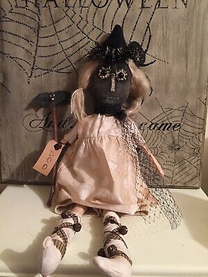 "OOAK PRIMITIVE PUMPKIN HEAD GHOUL DOLL 21"" Tall. From Uncommon Olde"