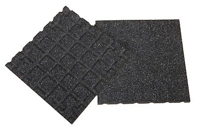 Aslon Rubber Tiles - Black - 400mm - Interlocking - Play Areas - Terraces