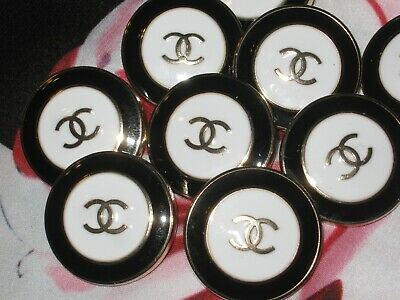 Chanel A SET OF 9 buttons  23mm lot of 9 GOLD CC
