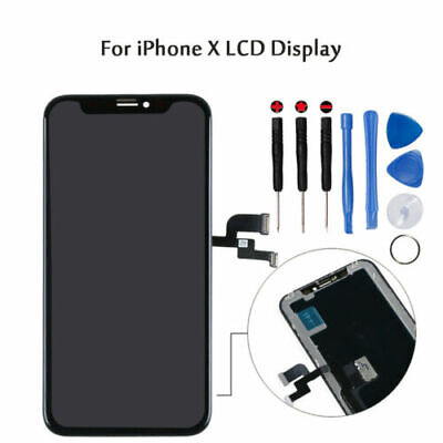 Lcd Display Per Apple Iphone X Ten 10 Schermo Vetro Frame Oled Touch Screen Bt02