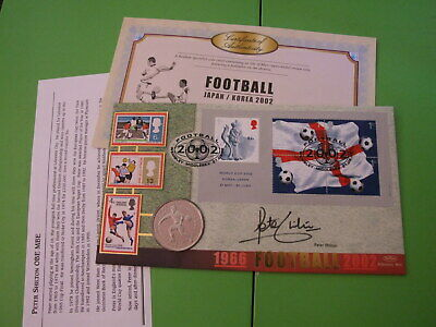 Benham  Coin Cover Pnc 2002 World Cup Signed Peter Shilton . See Postage Offer
