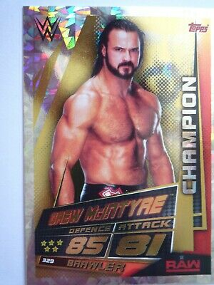 TOPPS WWE SLAM ATTAX UNIVERSE CHAMPION DREW McINTYRE CARD COMB P&Pack