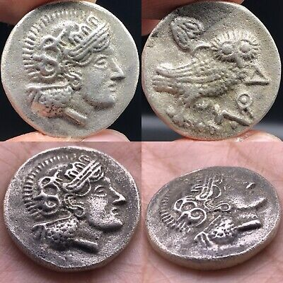 Wonderful Old Roman king Unique Solid silver Lovely Coin