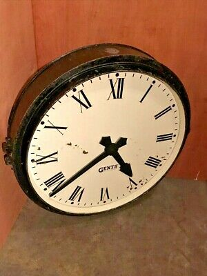 Vintage Industrial Gents, Leicester Factory Railway Station Wall Clock