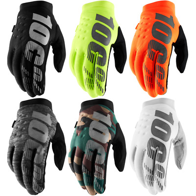 100% Brisker Warm Winter MTB MX Motocross Gloves Cold Weather Thermal