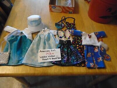 American girl 14in wellie wisher clothes lot