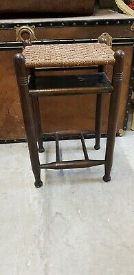 Vintage rush seat / side table 1940's 50'