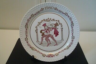 Vintage Spode Christmas Plate 1980.'The Boars Head'.Unboxed.