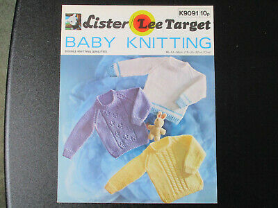 Lister-Lee, Dk, 18-22 Ins, Baby Sweaters Knitting Pattern