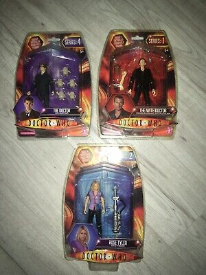 Dr Doctor Who 3 X Figures New Rose Tyler Ninth Doctor