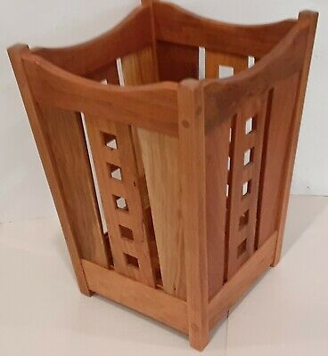 Mackintosh, Arts and Crafts, Cherry  Waste Basket