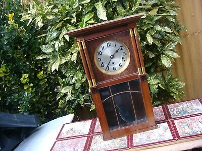 Vintage  KIENZLE German Westminster Clock Movement  Come Inside Wall Case