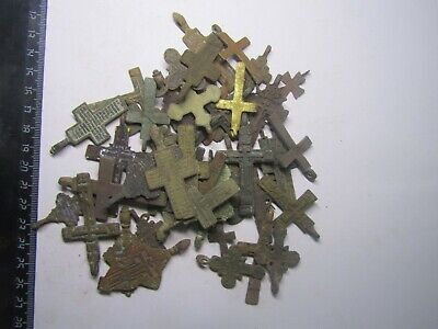 Ancient crosses of 17-19 centuries (50 pc) Metal detector finds100%original