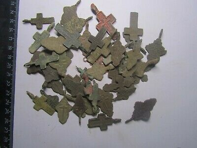 Ancient crosses of 18-19 centuries (50 pc) Metal detector finds100%original