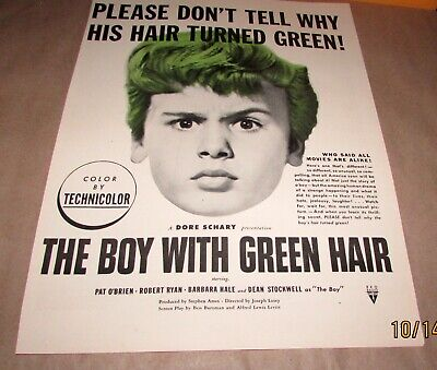 The Boy With The Green Hair 11x17 Movie Poster 1948