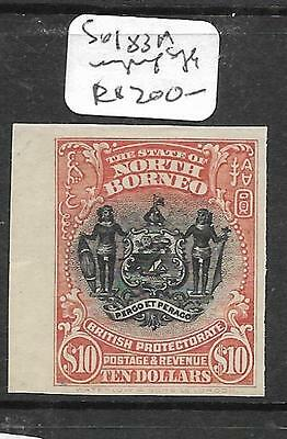 North Borneo (P2603B) $10.00  Arms, Lion Sg 183A   Imperf Single Ngai