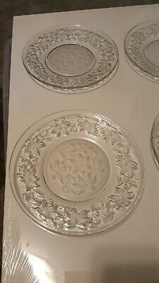 Princess House Fantasia 8 Inch Salad Plates Set of Four (4) non frosted
