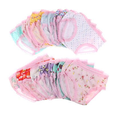 Fashion Cute Baby Girls Soft Cotton Underwear Panties Kids Underpants Cloth Pq