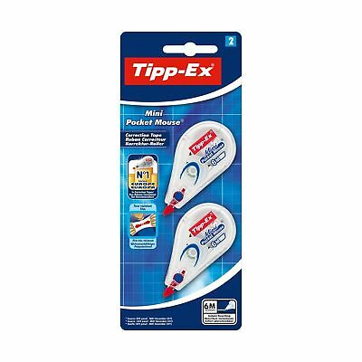 Tipp-Ex Mini Pocket Mouse Correction Tapes – 6 m, Pack of 2 Classic Single