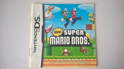 New Super Mario Bros Nintendo DS Instruction Manual Only GC