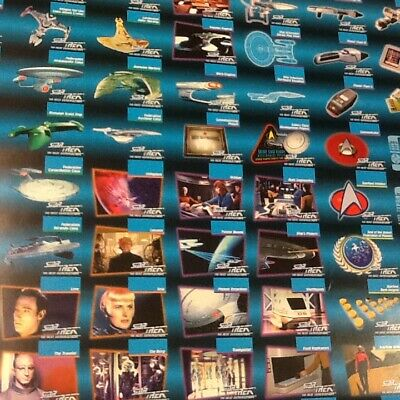 Star Trek Uncut Collectible Cards 2 Sheets 37in X 27in Front and Back Print