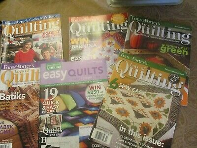 FONS & PORTER MAGAZINE lot of 6  LOVE OF QUILTING & EASY QUILTS