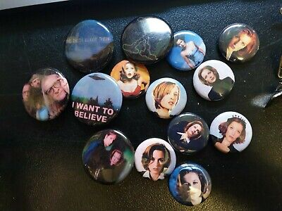 X FILES BUTTONS - 14 available (additional are FREE if bought all together!)