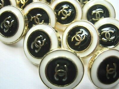 Chanel A SET OF 10 buttons  17mm  lot of 10 GOLD CC