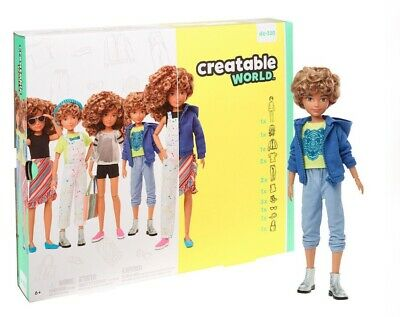 CREATABLE WORLD Dc-220 Curly Deluxe Character Kit Customisable Doll Clothes Wig